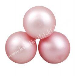 Betűzős üveggömb, púder rózsaszín, matt, 3 db/csokor