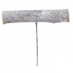 Betűzős faág, mosott fehér, 8x12 cm
