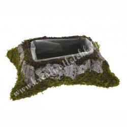 Kaspó szögletes moha-kéreg, 26x18 cm