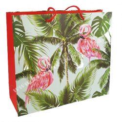 Dísztasak, Flamingók és pálmafák, 27,5x25 cm