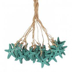 Akasztós dísz, tengeri csillag, türkizzöld, kb. 22 cm