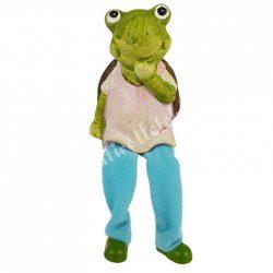 Lógó lábú teknős, rózsaszín ruhában, 6x17 cm