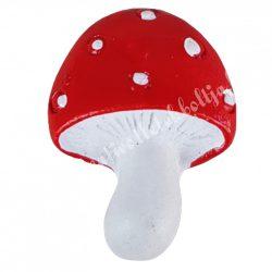 Ragasztható gomba, piros, 2x2,5 cm