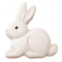 Ragasztható nyúl, fehér, 2x2,5 cm
