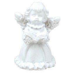 Fehér angyalka, könyvvel, 3,5x5 cm