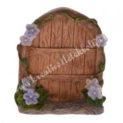 Tündérkert ajtó lila virággal, 4x5 cm