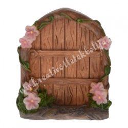 Tündérkert ajtó rózsaszín virággal, 4x5 cm