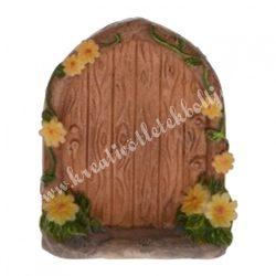 Tündérkert ajtó sárga virággal, 4x5 cm