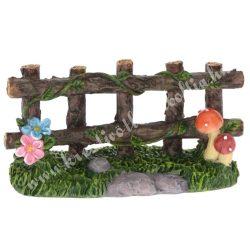 Tündérkert kerítés, barna, 7,5x4 cm