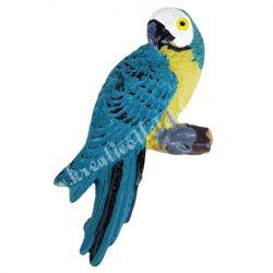 Ragasztható papagáj, türkiz, 3x5 cm