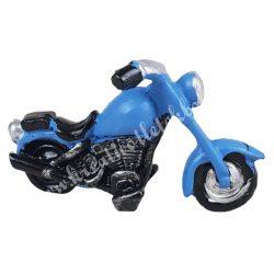 Polyresin motor, kék, 7,5x4,5 cm