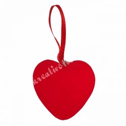 Akasztós hungarocell szív, piros, 4,5 cm