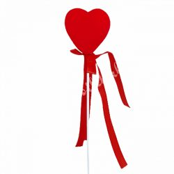 Beszúrós hungarocell szív, piros, 3,5 cm