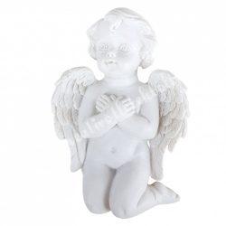 Polyresin angyal, 4,5x6,5 cm
