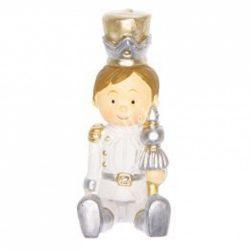 Katona, ülő 4., fehér-arany-ezüst, 2x3x5 cm