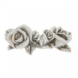 Polyresin szürke rózsa, 8x4 cm