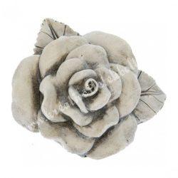 Polyresin szürke rózsa, 6x5,5 cm