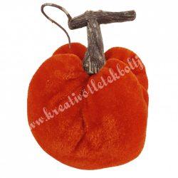 Bársony tök, narancssárga, 6x8,5 cm