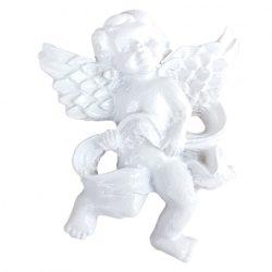 Ragasztható angyal, fehér, 3x4 cm