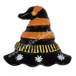 Ragasztható polyresin boszorkány kalap, 4x3,5 cm