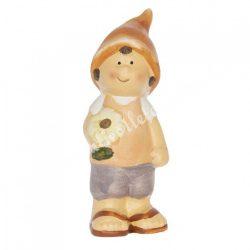 Kerámia fiú manósapkában, 5x14 cm