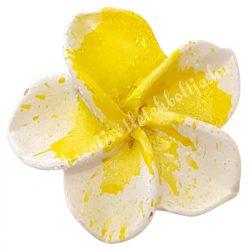 Ragasztható virág, sárga, 3 cm