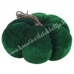Bársony tök, zöld, 15x10 cm