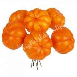 Betűzős dísztök, narancs, 3,2x2,5 cm, 6db/csokor