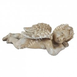 Polyresin angyal, hason fekvő, 9x3 cm