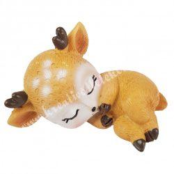 Polyresin őzike (bambi), alvó, 7x4 cm