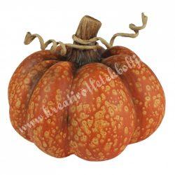 Kerámia tök, narancssárga, 18x15 cm