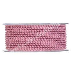 Sodrott zsinór, rózsaszín, 2,5 mm