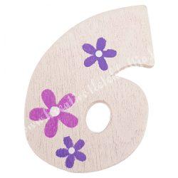 Csipeszes szám, 6., rózsaszín, 4x6 cm