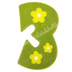 Csipeszes szám, 3., zöld, 4x6 cm