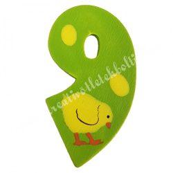 Csipeszes szám, 9., zöld, 3,5x6 cm
