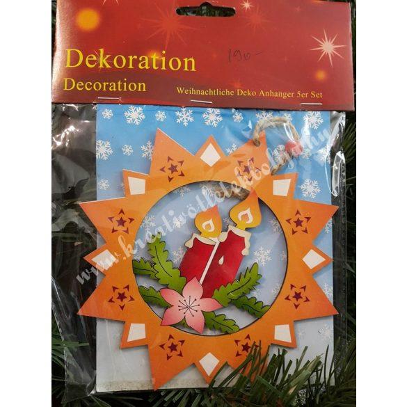 Karácsonyi dekoráció,gyertyák