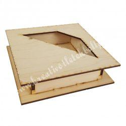 Dekor alap, fadoboz trapéz kivágással, 18x5 cm
