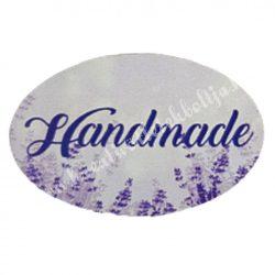 """Dekor tábla, ovál alakú, """"Handmade"""" felirattal, 4,5x3 cm"""
