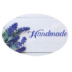 """Dekor tábla, ovál alakú, """"Handmade"""" felirattal, 7,5x5 cm"""