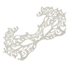 Dekorgumi álarc pillangós, fehér