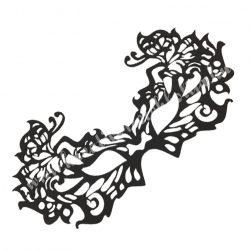Dekorgumi álarc pillangós, fekete