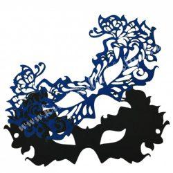 Dekorgumi dupla szemmaszk, pillangós, fekete-kék