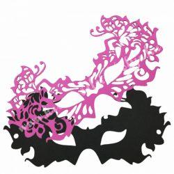 Dekorgumi álarc pillangós, pink dupla