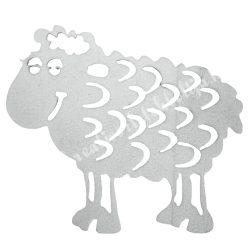 Dekorgumi bárány, fehér