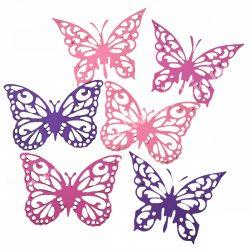 Dekorgumi pilangók, rózsaszín-lila, 12 cm