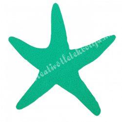 Dekorgumi tengeri csillag, türkiz zöld, 6,5x6 cm