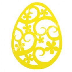 Dekorgumi, tojás, citromsárga, 19x25 cm