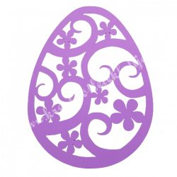 Dekorgumi, tojás, lila, 19x25 cm