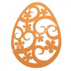 Dekorgumi, tojás, narancssárga, 19x25 cm