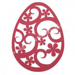 Dekorgumi, tojás, piros, 19x25 cm